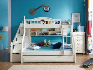 柏莎贝尔 小美系列儿童床双层床1.5米(不带拖床和梯柜)