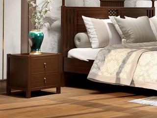 檀宫御品 新中式 优质进口黄金檀木 FA1903 床头柜