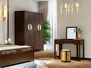 檀宫御品 新中式 优质进口黄金檀木 FA1902 双门衣柜
