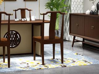 檀宫御品 新中式 优质进口黄金檀木 FA1902 餐椅