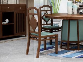 檀宫御品 新中式 优质进口黄金檀木 FA1903 餐椅