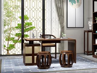 檀宫御品 新中式 优质进口黄金檀木 FA190 书桌