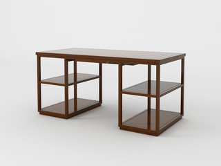 檀宫御品 新中式 优质进口黄金檀木 FA1902 书桌