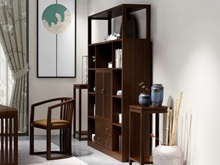 檀宫御品 新中式 优质进口黄金檀木 FA1901 书椅