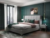 皮坊工艺 轻奢系列109床 1.8*2.0米浅灰色布艺床