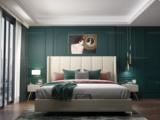 皮坊工艺 轻奢系列109床 1.5*2.0米米黄色布艺床