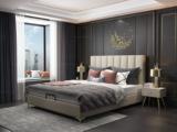 皮坊工艺 轻奢系列108床 1.5*2.0米米黄色布艺床