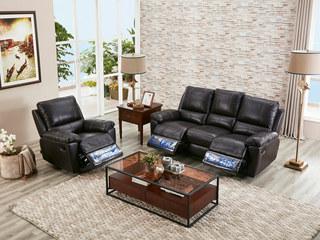 芝华仕 头等舱芝华士沙发现代布艺功能沙发组合小户型客厅组合深熏咖(1+3)