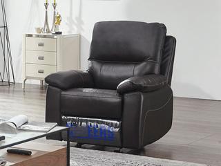 芝华仕 头等舱头层牛皮客厅真皮功能沙发 小户型组合芝华士 单人位深咖色(手动可摇可躺)