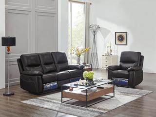 芝华仕 头等舱头层牛皮客厅真皮功能沙发 三人电动 单人手动可摇可躺 小户型组合芝华士深咖色沙发组合(1+3)