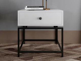 诺美帝斯 意式极简C04白色 小尺寸 床头柜