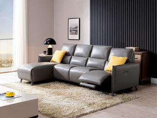 芝华仕 意式轻奢极简真皮北欧客厅沙发简约现代组合后现代10070