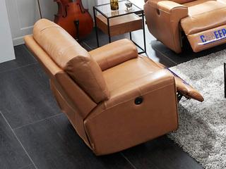 芝华仕 头等舱沙发头层牛皮客厅北欧单人真皮沙发现代简约整装5869 电动进口头层牛皮小中大户型