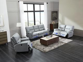芝华仕 头等舱沙发头层牛皮客厅北欧沙发 现代简约整装5869 电动进口头层牛皮小中大户型沙发组合(1+2+3)