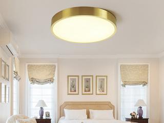 领秀照明 北欧 铜本色+亚克力8801-Φ40吸顶灯(含光源)