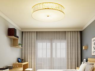 领秀照明 简欧 水晶灯体2658圆形500MM金色吸顶灯(不含光源)
