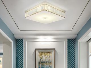 领秀照明 简欧 水晶灯体2658方形500MM金色吸顶灯(不含光源)