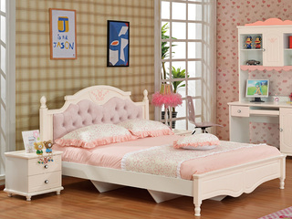 时尚童步系列粉红芭比 低箱液压 1.5米 儿童床