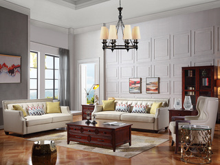 巴米尔 轻奢879沙发组合 进口头层皮皮艺1+2+3沙发
