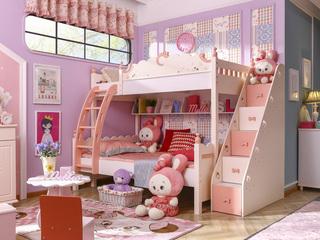 海豚公主SH10高低床(含书架,不带梯柜)