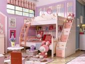 家百利海豚公主SH10高低床(含书架,不带梯柜)