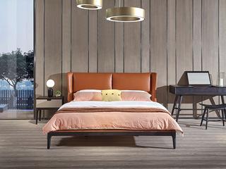 舒悦庭 意式极简C801软床 1.8*2.0米皮艺床