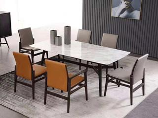 舒悦庭 极简SQ-2长方形餐台 白色大理石餐桌