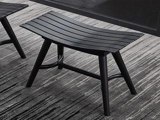 极简SQ-9湾板凳 实木妆凳