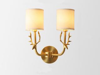 凯顿星月 美式MC560-2W铜灯 2头壁灯(包邮)(不含光源)