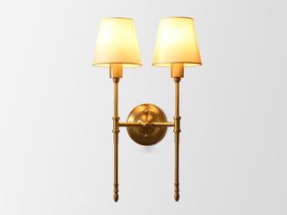 凯顿星月 美式MC318-2W铜灯 2头壁灯(包邮)(不含光源)