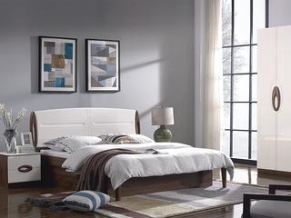 宏宇家私 唯爱系列 现代简约风格 实木框架 成熟风感 大师抄刀 1.8米床 高箱床