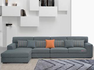 家百利 现代简约 优质棉麻布艺 沙发组合(1+3+左贵妃)