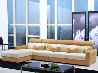 家百利 现代简约 布艺沙发 沙发组合(1+3+左贵妃)