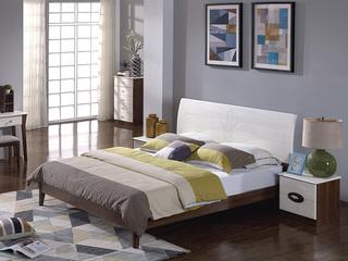 宏宇家私 唯爱系列 现代简约风格 实木自然纹理 大自然风味 1.8米床