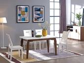 唯爱系列 现代简约长方形实木餐桌1.3米 大理石台面实木桌脚 胡桃色实木餐桌 小户型餐桌 简约现代客厅家具