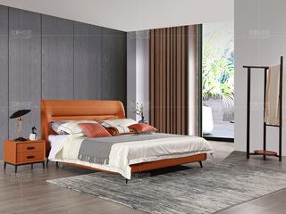 拉帕拉尼 极简系列 科技布 橙色套床