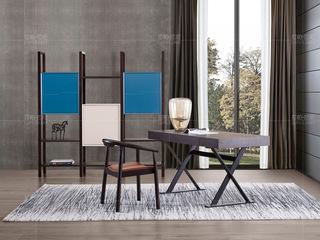 拉帕拉尼 极简系列 进口北美白蜡木烟熏色书椅