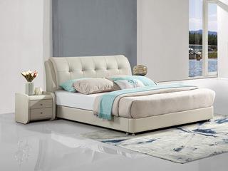爱慕米思 现代简约1855 皮艺床+床头柜套餐(1.8米床+床头柜*2)(不含运费)