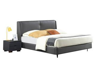 爱慕米思 现代简约1853皮艺床+床头柜套餐(1.8米床+床头柜*2)(不含运费)