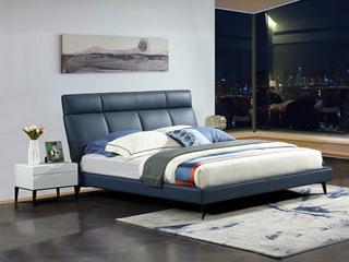 爱慕米思 现代简约209艺床+床头柜套餐(1.8米床+床头柜*2)(不含运费)