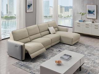 芝华仕 头等舱北欧风格现代简约科技布艺功能沙发客厅大户型10089 米灰色左贵妃沙发组合