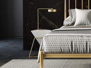 慕梵希 轻奢角几 TY61白色板式 床头柜