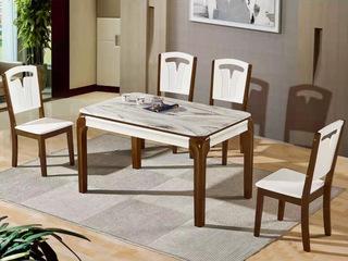 怡都 现代简约 米色磨砂玻璃 烤漆实木1餐桌+4椅
