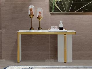 拉帕拉尼 时尚轻奢 不锈钢 天然大理石香槟金玄关