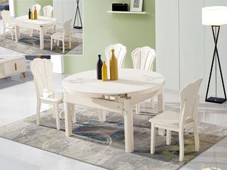 怡都 现代简约 米色磨砂玻璃烤漆实木餐桌