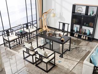 品匠坊现代新中式白腊木洽谈桌