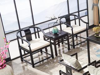 品匠坊现代新中式白腊木洽谈椅