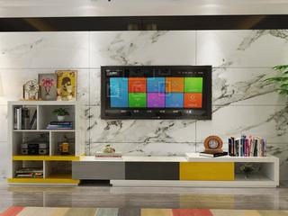 米勒 现代简约 彩色书柜