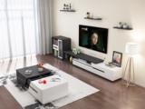 米勒 现代简约 黑色电视柜(不含边柜)