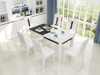 米勒 现代简约 钢化玻璃餐桌
